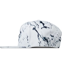 Stampd White Stone Print Snapback Cap Model Picture