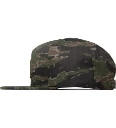 HUF Olive Tiger Camo Metal H Snapback Cap Model Picture