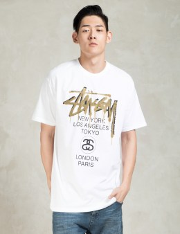 Stussy White WT Drip T-Shirt Picture