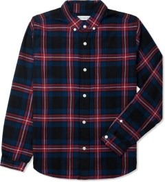 Head Porter Plus Navy Tartan Check Shirt Picutre