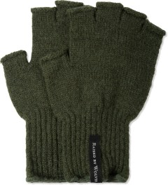 Raised by Wolves Olive Drab Fingerless Gloves Picture