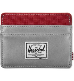 Herschel Supply Co. Silver/Red Charlie 3M Cardholder Picture