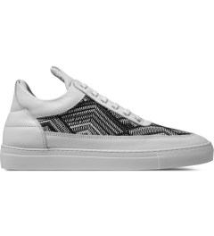 Filling Pieces TSA Woven White Low Top Sneakers Picutre