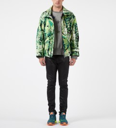 FACETASM Green Psychedelic Level 7 Jacket Model Picture