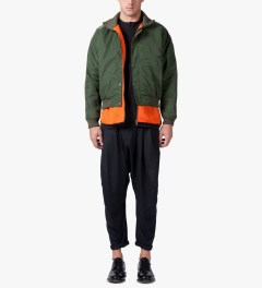 Henrik Vibskov Green Bomber What If Jacket Model Picutre