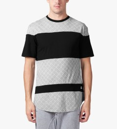 Stampd Grey/Black The Gridded Panel T-Shirt Model Picutre