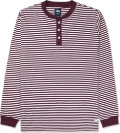 Stussy Wine Louis L/S Henley Sweater Picture