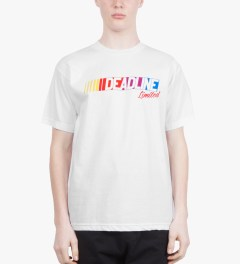 Deadline White Nascar T-Shirt Model Picutre