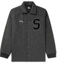 Stussy Charcoal Wool Coaches Jacket Picture