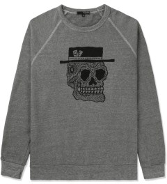 The Quiet Life Heather Grey Skull Crewneck Sweater Picutre