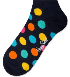Happy Socks Black Big Dot Low Socks Picture