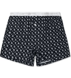 Carhartt WORK IN PROGRESS Jet/White Paisley Print Trunk Shorts Picutre