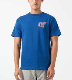 Odd Future Royal Blue Optical Donut T-Shirt Model Picture