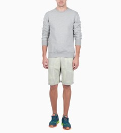 Reigning Champ Heather Grey RC-3207-1 Midweight Twill Fr Terry L/S Crewneck Sweatshirt Model Picture