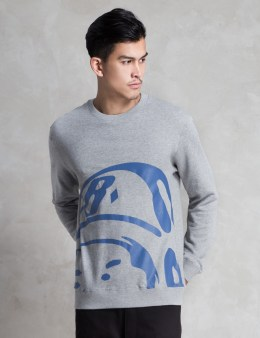 Billionaire Boys Club Heather Grey Big Helmet Crewneck Sweater Picture