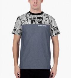 Billionaire Boys Club Chambray S/S Space News Crewneck T-Shirt Model Picutre