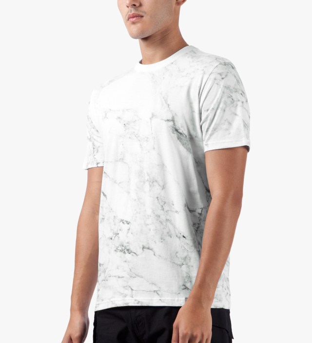 White S/S Marble T-Shirt