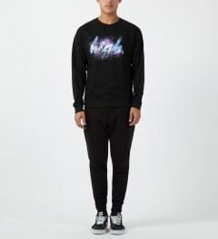 Odd Future Black High Galaxy Crewneck Sweater Model Picture