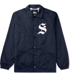 Stussy Navy LB Coaches Jacket Picutre