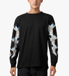 Marcelo Burlon Black Kubo L/S T-Shirt Model Picture