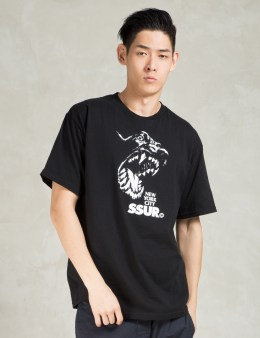 SSUR Black Canine T-Shirt  Picture