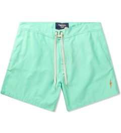 Lightning Bolt Ice Green Plain Crane Boardshort Picutre