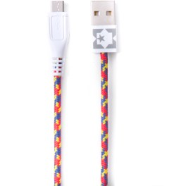 Eastern Collective Red/Yellow/Blue Confetti Micro USB Collective Cable Picutre