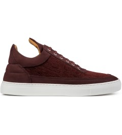Filling Pieces Burgundy Low Top Carpet Textile Shoe Picutre