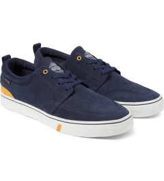 HUF Navy/Gold Ramondetta Pro Shoes Model Picture