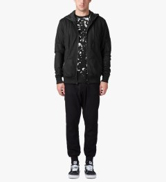Stampd Black Mesh Nylon Zip Up Hoodie Model Picture