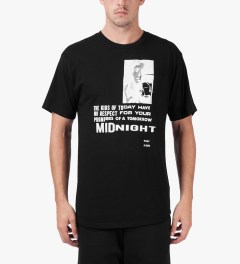 Midnight Studio Black Phenom Pocket T-Shirt Model Picutre