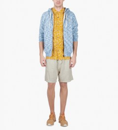 Lightning Bolt Golden Rod Sharks Skin Aloha Shirt Model Picutre