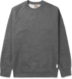 Carhartt WORK IN PROGRESS Dark Grey Heather Holbrook Crewneck Sweater Picutre