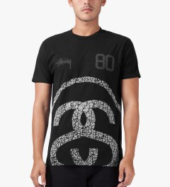 Stussy Black Elephant Link T-Shirt Model Picutre