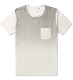 Aloye Grey/Off-white Gradation Print S/S T-Shirt Picture