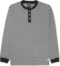 Stussy Black Louis L/S Henley Sweater Picture
