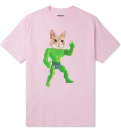 Odd Future Pink Mellowhype Beast Cat T-Shirt Picture