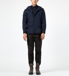 Penfield Navy Clarkdale Hooded Shell Jacket Model Picture