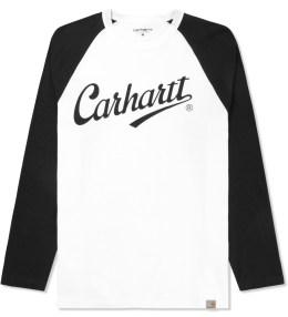 Carhartt WORK IN PROGRESS White/Black L/S League T-Shirt Picture