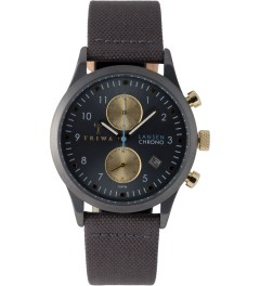 TRIWA Walter Lansen Chrono Watch w/ Grey Canvas Classic Strap Picture