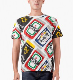 Lazy Oaf Multi Beer Can T-Shirt Model Picutre