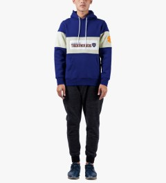The Hundreds Blue Base Pullover Hooded Sweater Model Picture