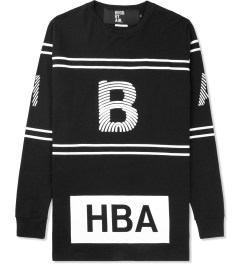 Hood By Air. Black Thumbprint Stripe L/S T-Shirt Picture