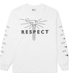 Mott Street Cycles White Respect L/S T-Shirt Picutre