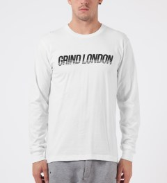 Grind London White Grind London L/S T-Shirt Model Picture