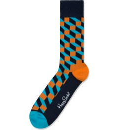 Happy Socks Blue/Orange Filled Optic Socks Picture