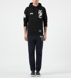 Stussy Black NYC 80 Hoodie Model Picture