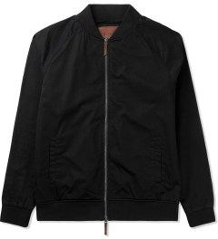 ZANEROBE Black Dugout Bomber Jacket Picture