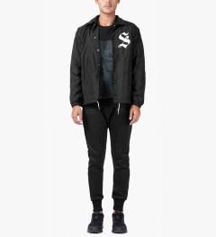 Stussy Black LB Coaches Jacket Model Picutre