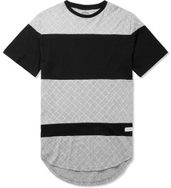Stampd Grey/Black The Gridded Panel T-Shirt Picture